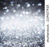 silver glitter   shiny... | Shutterstock . vector #219437935