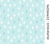 Rain. Seamless Vector Pattern