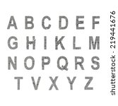 illustrate of stone alphabet | Shutterstock . vector #219441676