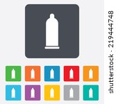 condom safe sex sign icon. safe ... | Shutterstock . vector #219444748