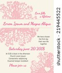 invitation wedding card pink... | Shutterstock .eps vector #219445522