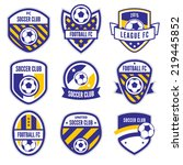 soccer logo or football club... | Shutterstock .eps vector #219445852