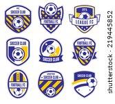 soccer logo or football club... | Shutterstock .eps vector #219445852