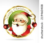 Santa Claus Cartoon Logo