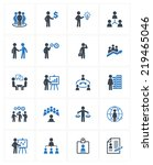 business management icons  ... | Shutterstock .eps vector #219465046