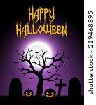 halloween card. vector... | Shutterstock . vector #219468895