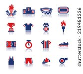 sports color icons | Shutterstock .eps vector #219481336