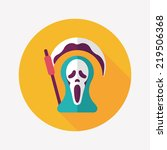 grim reaper flat icon with long ...   Shutterstock .eps vector #219506368