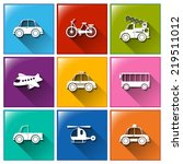 illustration of the icons with... | Shutterstock .eps vector #219511012