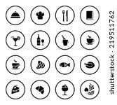 restaurant icon set | Shutterstock .eps vector #219511762