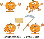 Pumpkin Cartoon Mascot...