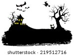 illustration of halloween... | Shutterstock . vector #219512716
