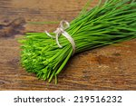 A Bunch Of Fresh Chives On A...