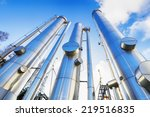 giant gas pipes  pipelines... | Shutterstock . vector #219516835