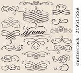 calligraphy vintage elements... | Shutterstock .eps vector #219517336