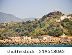 agia triada church above... | Shutterstock . vector #219518062