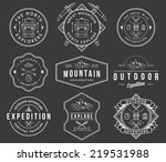 exploration vector badges and... | Shutterstock .eps vector #219531988