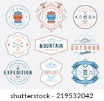exploration vector badges and... | Shutterstock .eps vector #219532042