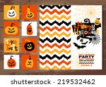 halloween background of... | Shutterstock .eps vector #219532462