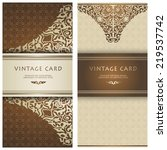 set of vintage cards. save the... | Shutterstock .eps vector #219537742