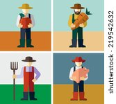 farmers   Shutterstock .eps vector #219542632