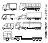 transportation vehicle... | Shutterstock .eps vector #219546712