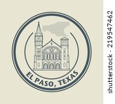 stamp with name of texas  el... | Shutterstock .eps vector #219547462
