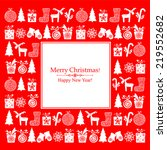 christmas card. red christmas... | Shutterstock .eps vector #219552682