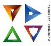 design triangle logo element.... | Shutterstock .eps vector #219558952