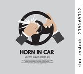 man honking the horn in a car... | Shutterstock .eps vector #219569152