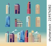 city building. downtown... | Shutterstock .eps vector #219576382
