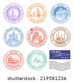 high quality vector stamps of... | Shutterstock .eps vector #219581236