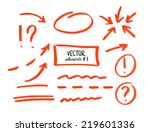 set of correction and highlight ... | Shutterstock .eps vector #219601336