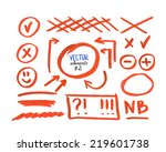 set of correction and highlight ... | Shutterstock .eps vector #219601738