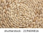 Natural Woven Straw Background...