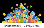 flying balloons isolated on a... | Shutterstock . vector #219623788