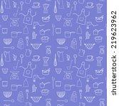 kitchen equipment isolated... | Shutterstock .eps vector #219623962