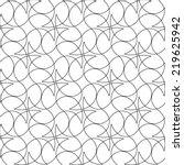 black and white geometric... | Shutterstock .eps vector #219625942