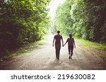 Couple Lovers Walking In The...