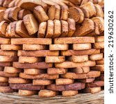 bread for sale at local market... | Shutterstock . vector #219630262