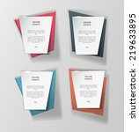 vector infographic banners set   Shutterstock .eps vector #219633895