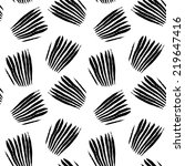 grunge black and white seamless ... | Shutterstock .eps vector #219647416