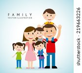 family graphic design   vector... | Shutterstock .eps vector #219663226