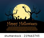 happy_halloween_background | Shutterstock .eps vector #219663745
