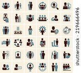 business people icons set | Shutterstock .eps vector #219666496