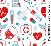 drugstore heart syringe pills... | Shutterstock . vector #219671416
