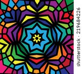 colorful stained glass design... | Shutterstock .eps vector #219684226
