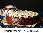 tasty chocolate cake with... | Shutterstock . vector #219688966