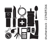 survival kit | Shutterstock .eps vector #219689266
