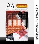 vector a4 cmyk modern flyer... | Shutterstock .eps vector #219695515
